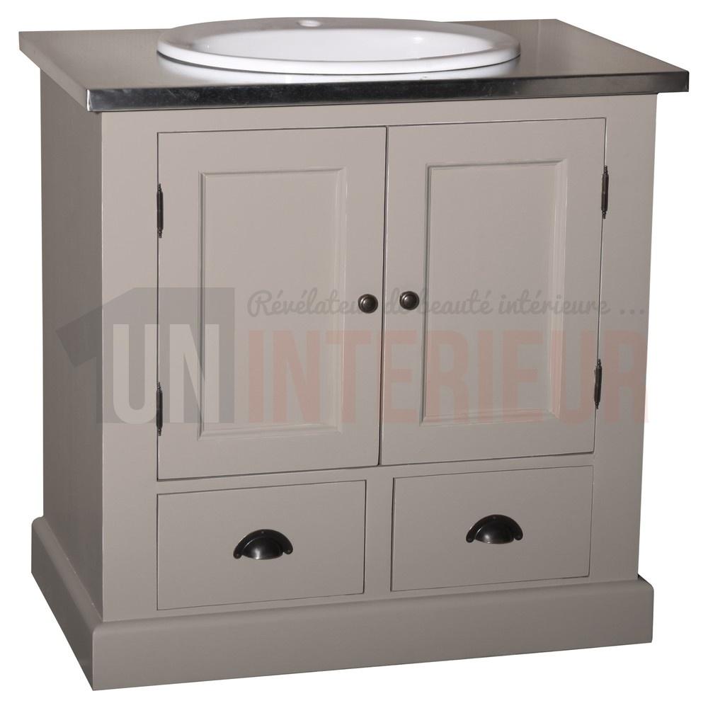 Acheter meuble vasque 85cm salle de bain pin for Acheter meuble de salle de bain