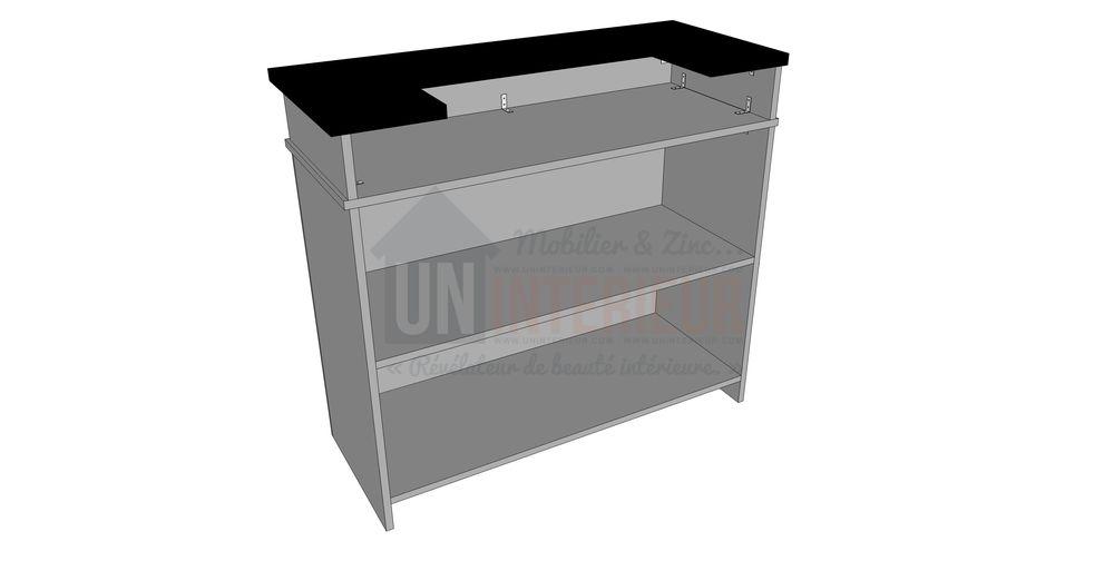 Fabriquer un comptoir de bar le construire en 3 tapes - Fabriquer un mobile en bois ...