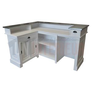 bar d 39 angle 180cm x 140cm en pin massif chr. Black Bedroom Furniture Sets. Home Design Ideas