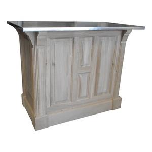 meuble comptoir 140cm ch ne zinc. Black Bedroom Furniture Sets. Home Design Ideas