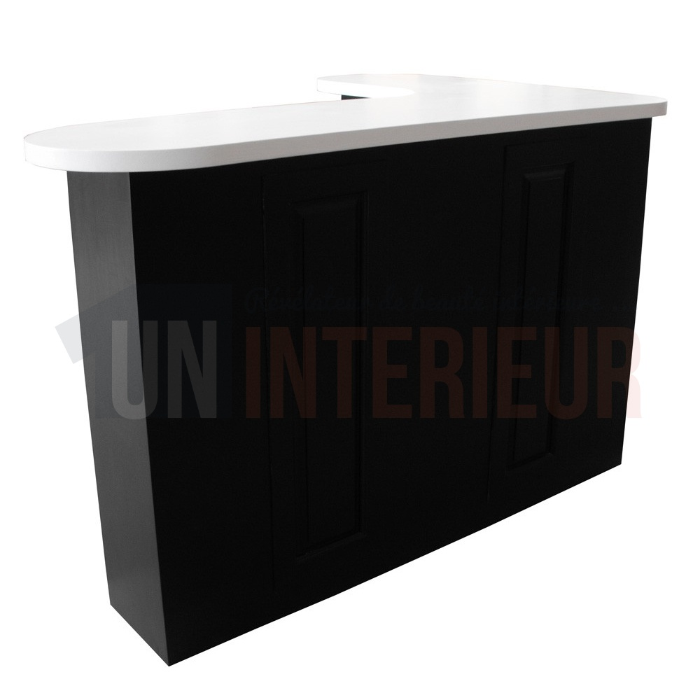 simple bar arrondi surmesure en pin massif cm avec retour. Black Bedroom Furniture Sets. Home Design Ideas