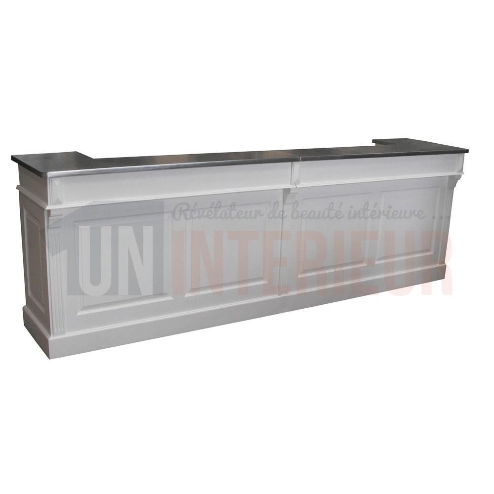 comptoir service sur mesure en pin massif avec int gration lave verres. Black Bedroom Furniture Sets. Home Design Ideas