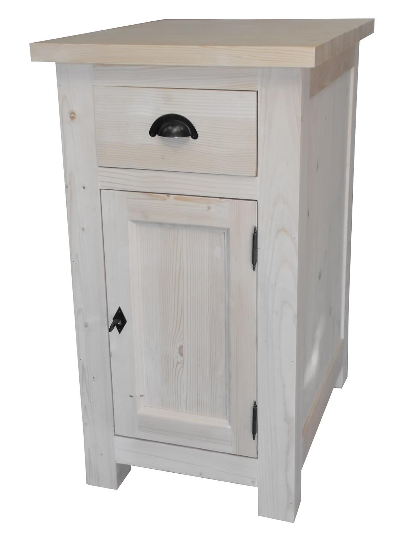 Petit meuble de rangement en pin meuble peint meubles for Petit meuble de rangement cuisine