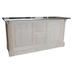 comptoir passe plat 190cm pin massif en 190. Black Bedroom Furniture Sets. Home Design Ideas