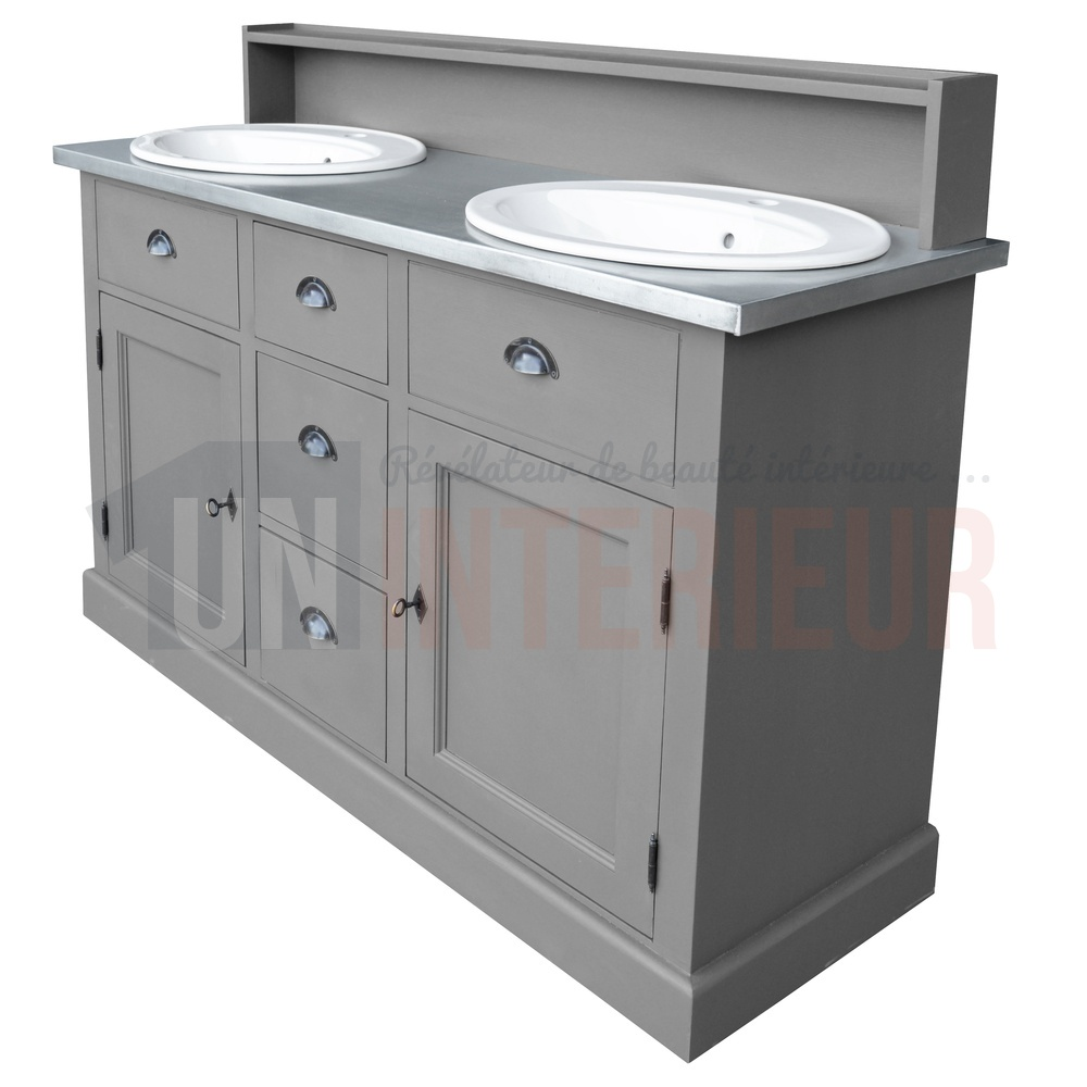 Acheter meuble bain 2 vasques offertes pin zinc for Acheter un bain
