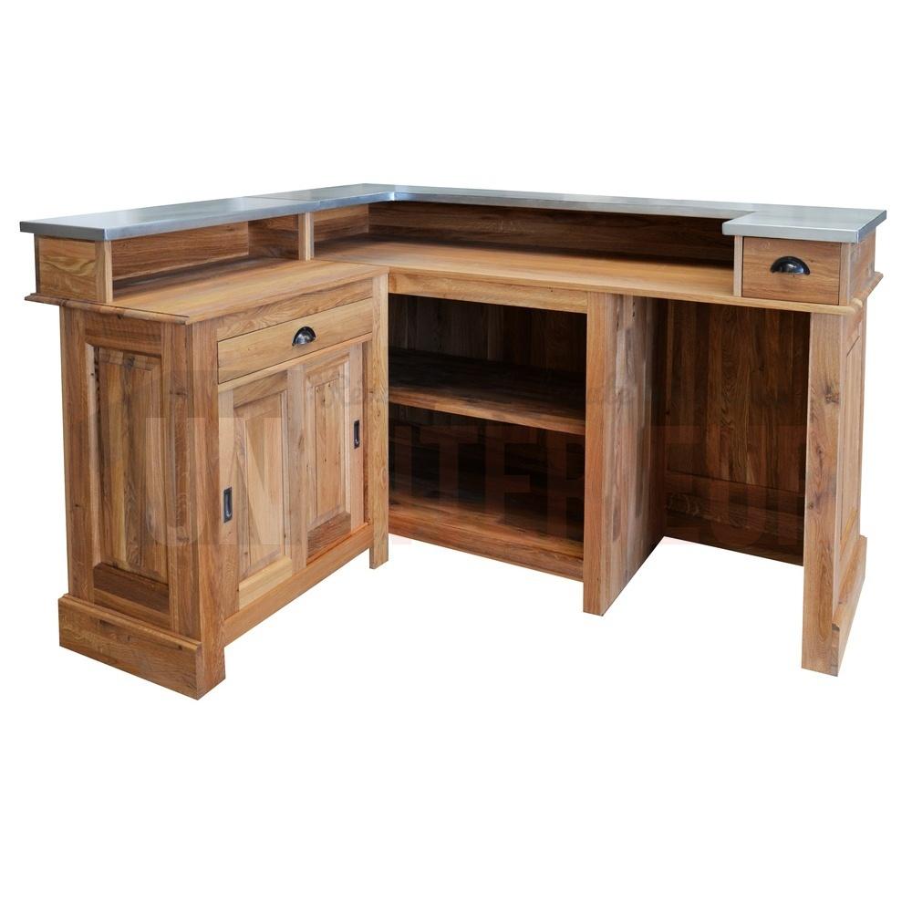 bar d 39 angle 180cm x 140cm en ch ne massif chr. Black Bedroom Furniture Sets. Home Design Ideas