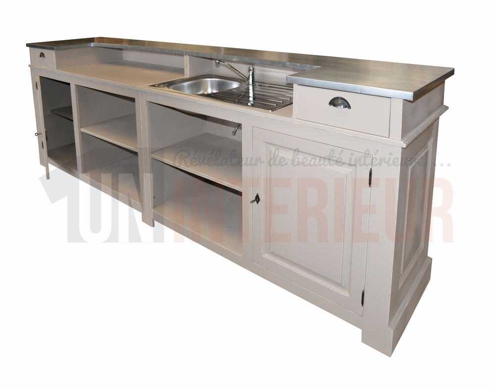 Comptoir bar de mètres ou cm chr pin zinc