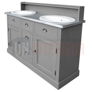 acheter meuble bain 2 vasques offertes pin zinc. Black Bedroom Furniture Sets. Home Design Ideas