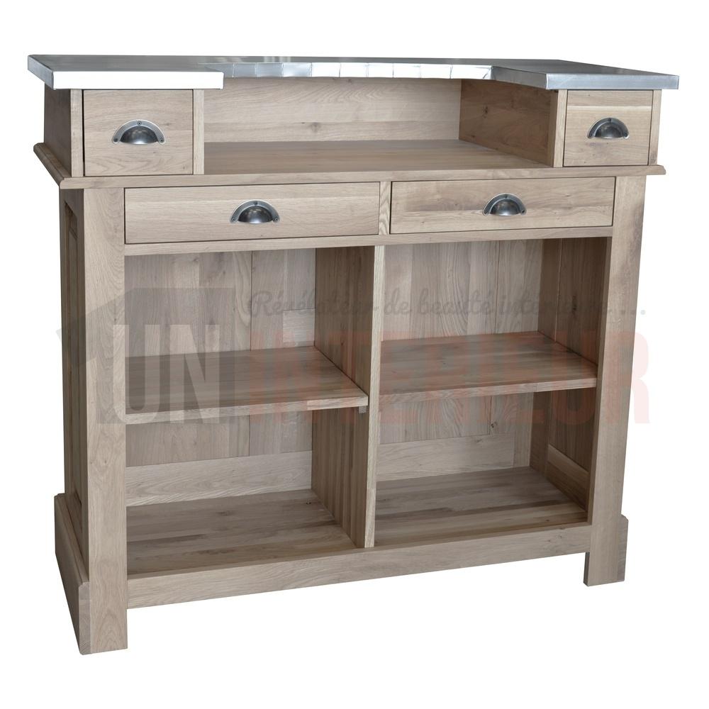 meuble de bar zinc 140cm ch ne. Black Bedroom Furniture Sets. Home Design Ideas