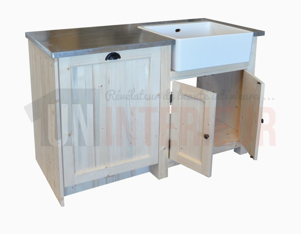 Meuble vier Avec Timbre DOffice Et Espace Lave Vaisselle  Pin