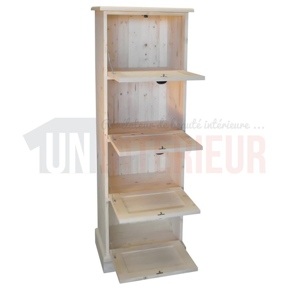 rangement de bureau en pin massif classeur. Black Bedroom Furniture Sets. Home Design Ideas