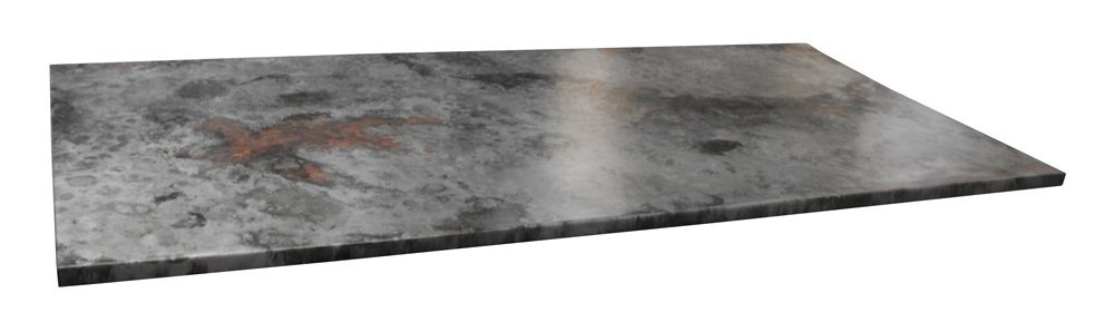 Table basse plateau en zinc for Plateau en verre pour table