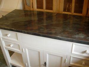 plateau de meuble en zinc meuble bain zingu. Black Bedroom Furniture Sets. Home Design Ideas