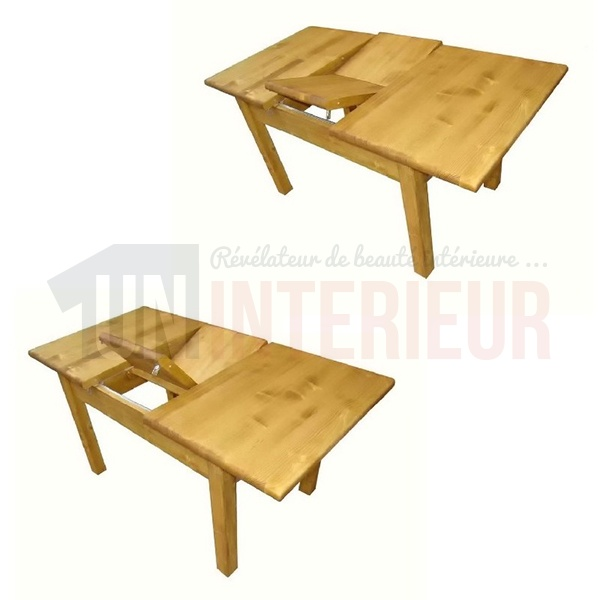 table portefeuille de 120cm 160cm de large pin massif. Black Bedroom Furniture Sets. Home Design Ideas