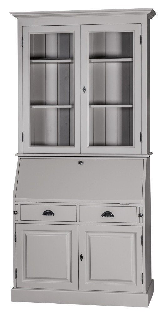 Scriban louis philippe en pin secr taire biblioth que - Meuble secretaire ikea ...