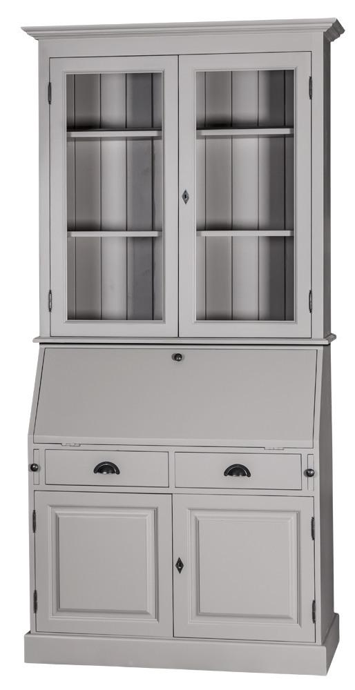 scriban louis philippe en pin secr taire biblioth que. Black Bedroom Furniture Sets. Home Design Ideas