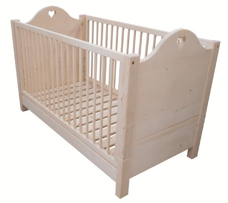 lit b b barreaux enfant sommier inclus pin. Black Bedroom Furniture Sets. Home Design Ideas
