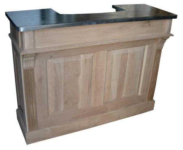 comptoir bar sur mesure en ch ne massif. Black Bedroom Furniture Sets. Home Design Ideas