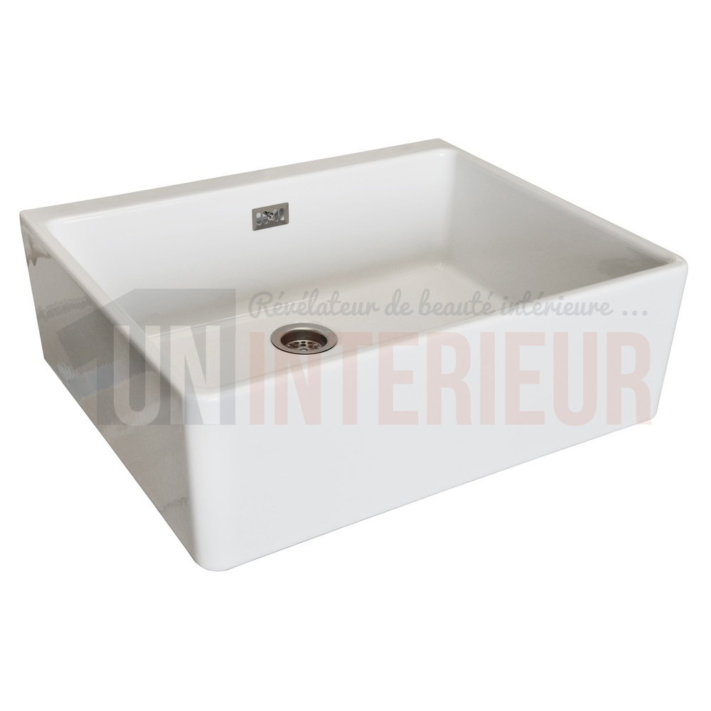 Evier timbre c ramique kit vacuation inclus for Meuble pour timbre d office
