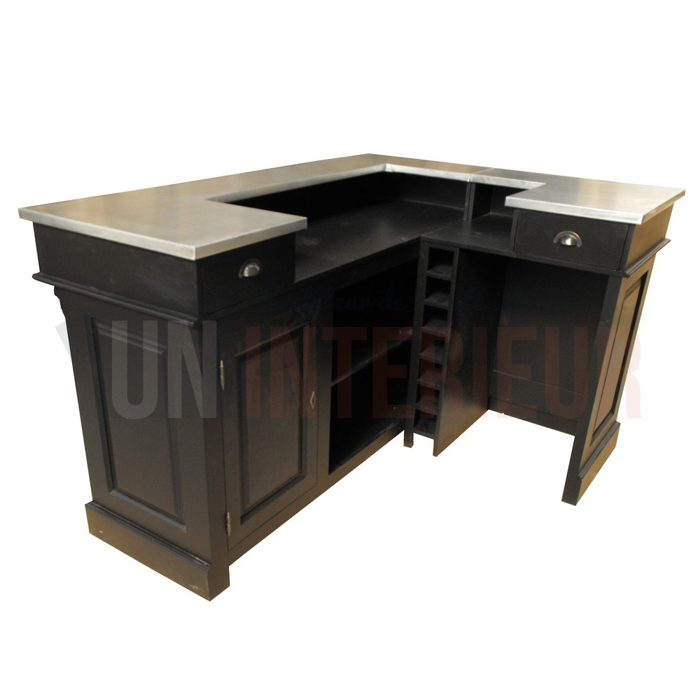 comptoir de bar d 39 angle avec vier 190 x 140 cm. Black Bedroom Furniture Sets. Home Design Ideas