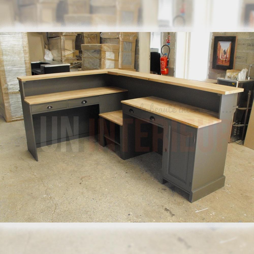 Meuble Comptoir Caisse: Comptoir Caisse Sur Mesure En Pin Massif