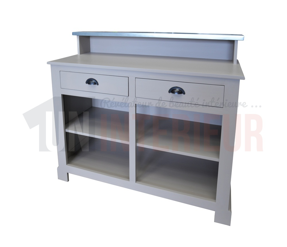bar zinc 120cm petit mod le pin massif et zinc. Black Bedroom Furniture Sets. Home Design Ideas
