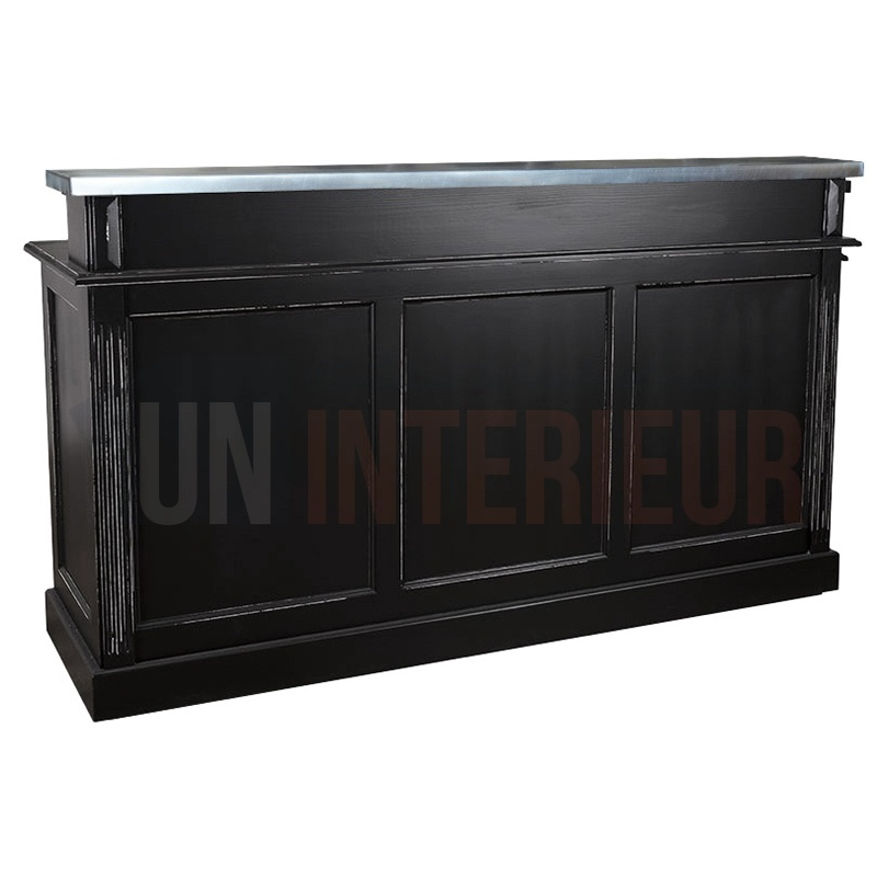 meuble bar ou caisse 180cm pin zinc. Black Bedroom Furniture Sets. Home Design Ideas