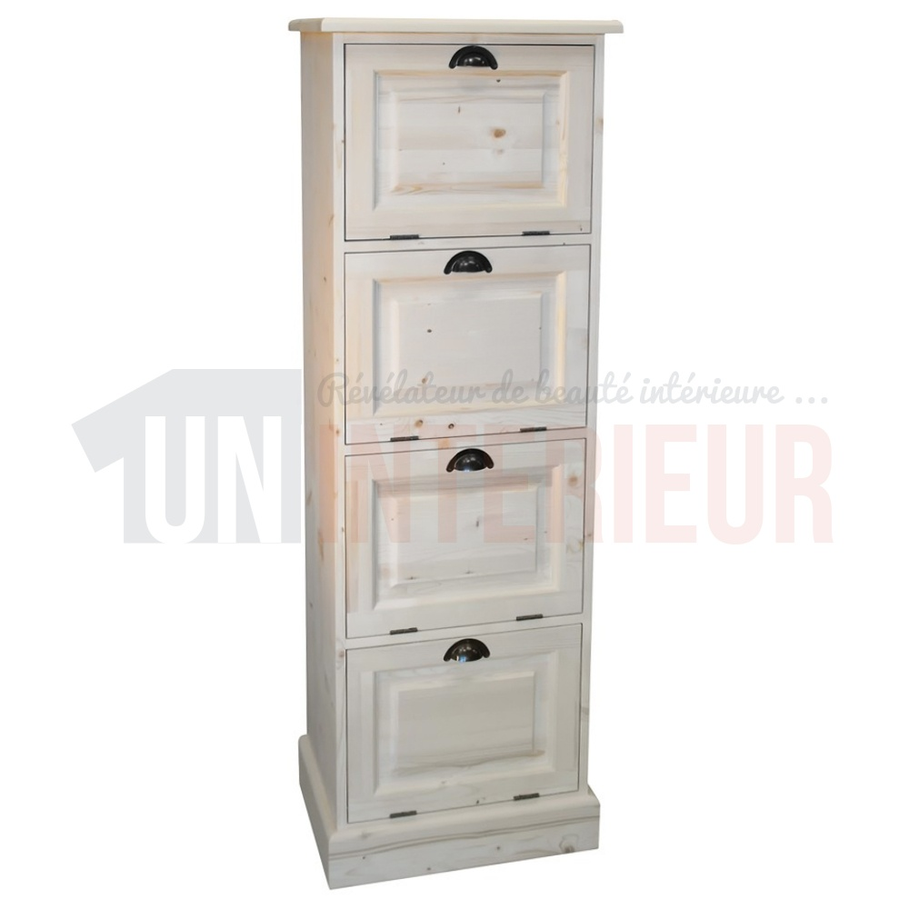 rangement de bureau en pin massif classeur. Black Bedroom Furniture Sets. Home Design Ideas