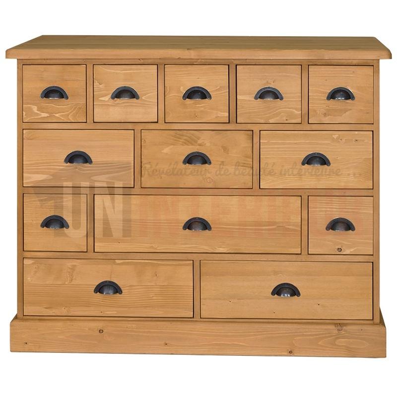 acheter merci re 13 tiroirs mercerie en pin. Black Bedroom Furniture Sets. Home Design Ideas