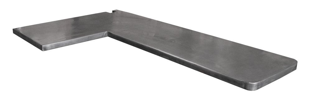Plan de travail de cuisine en zinc patin - Plan de travail cuisine gris anthracite ...