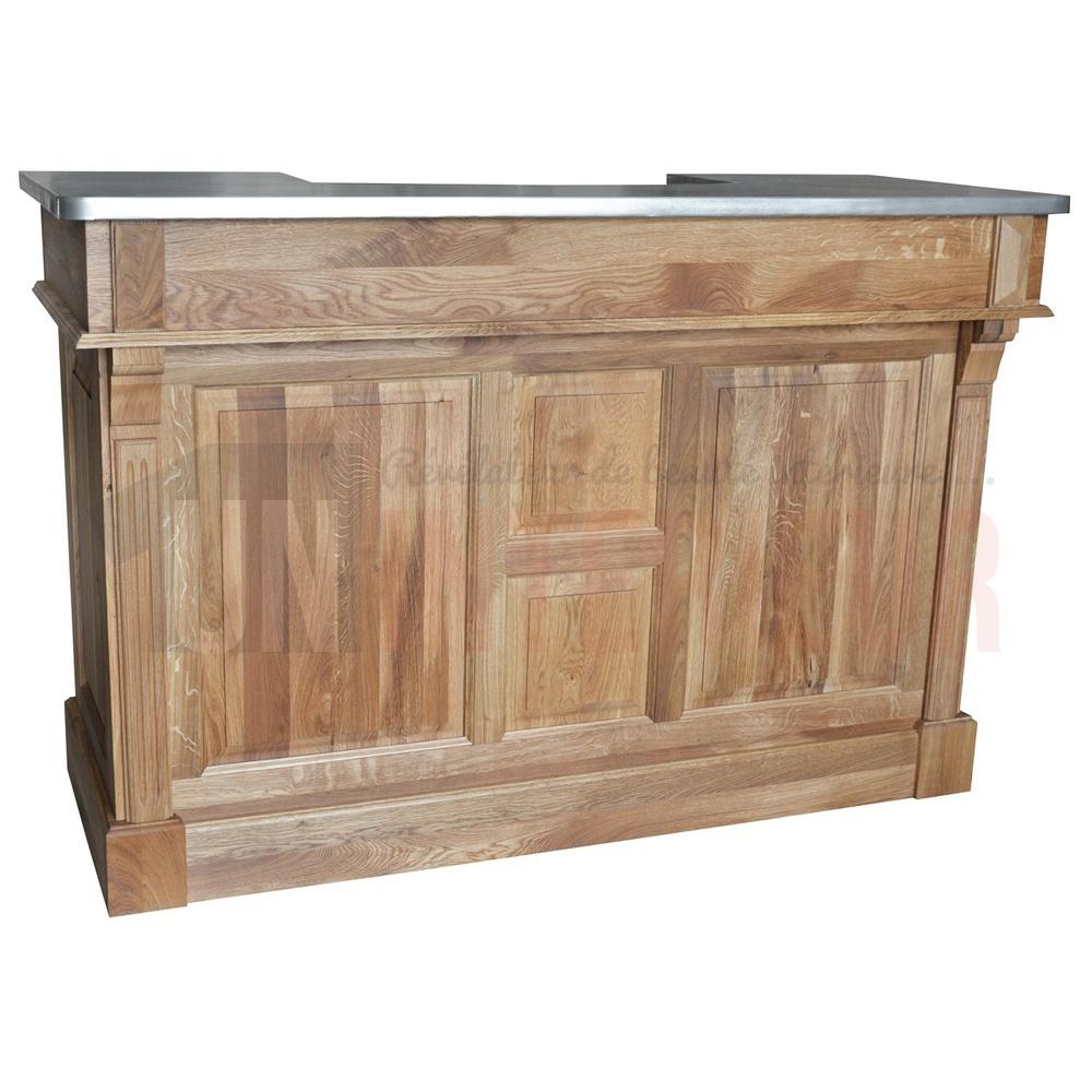 Meuble Salle De Bain Zinc ~ meuble bar en ch ne massif de 160cm plateau en zinc