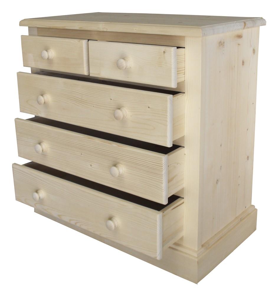 commode  tiroirs bandeau plein en pin massif hearth cx