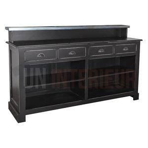 Meuble bar ou caisse 180cm pin zinc for Cirer ou vernir un meuble