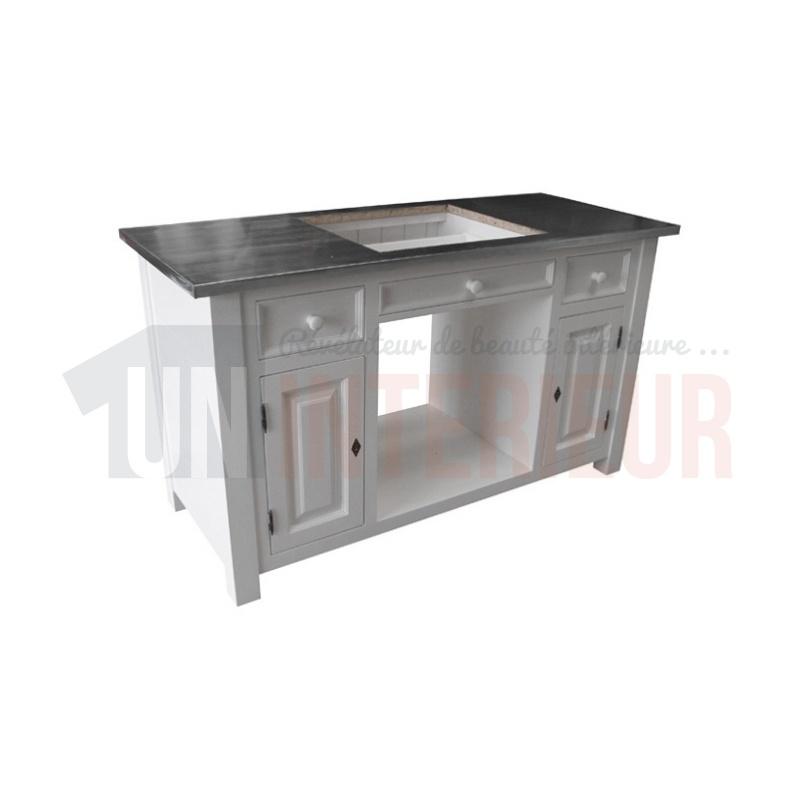 module cuisson de cuisine sur mesure pin zinc. Black Bedroom Furniture Sets. Home Design Ideas