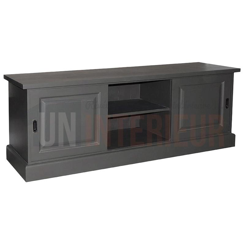 Acheter meuble tv 2 portes coulissantes pin for Meuble 2 portes coulissantes