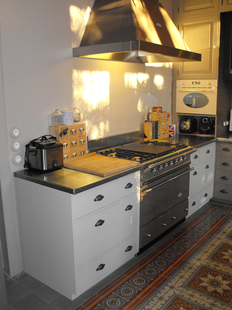 Cuisine chateau sur mesure zinc belle demeure - Mesure en cuisine ...