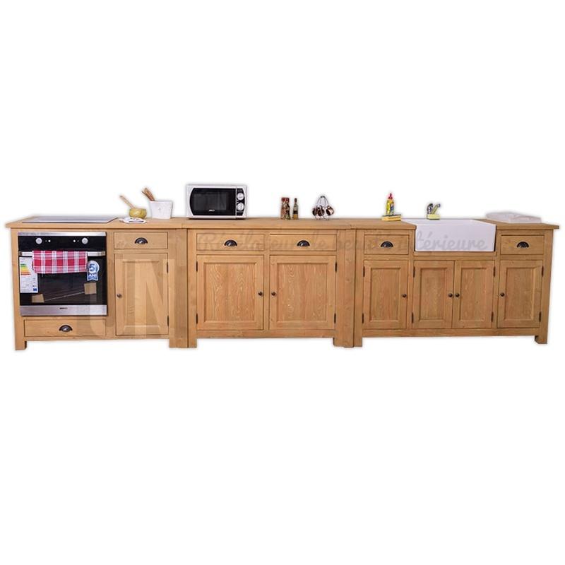 liaison d 39 lements de cuisine en pin et zinc. Black Bedroom Furniture Sets. Home Design Ideas