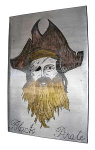 "Tableau en zinc d'art ""black pirate"" - Zinc d'art"