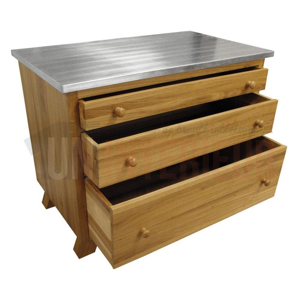 commode en ch ne massif pieds compas. Black Bedroom Furniture Sets. Home Design Ideas