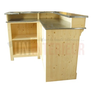 Comptoir de bar d 39 angle avec vier 190 x 140 cm - Construire un comptoir de bar ...
