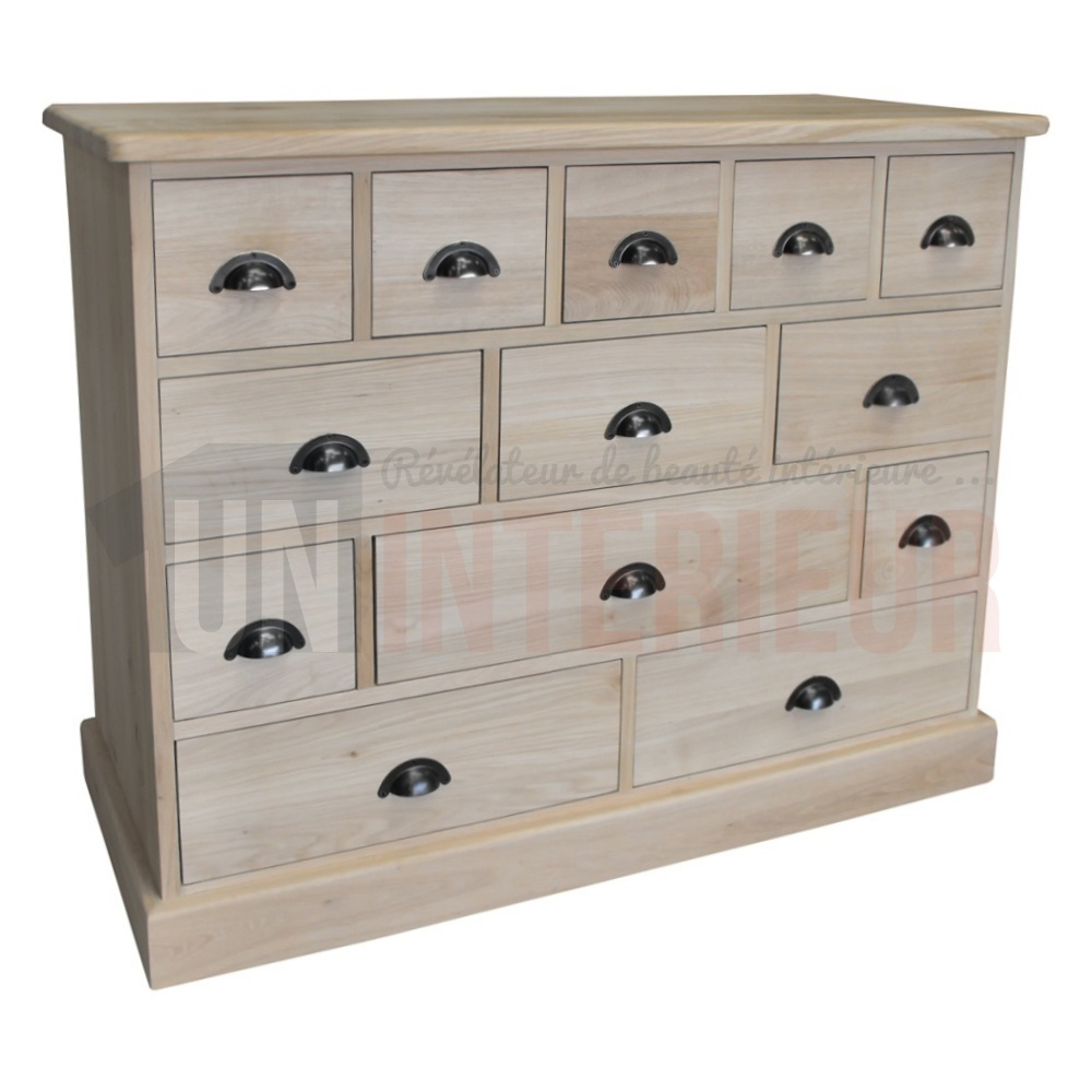 acheter meuble mercerie 13 tiroirs ch ne massif. Black Bedroom Furniture Sets. Home Design Ideas