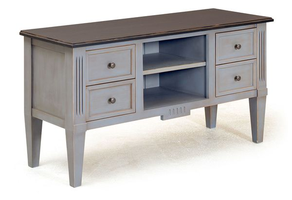 meuble tv design 4 tiroirs en pin massif. Black Bedroom Furniture Sets. Home Design Ideas
