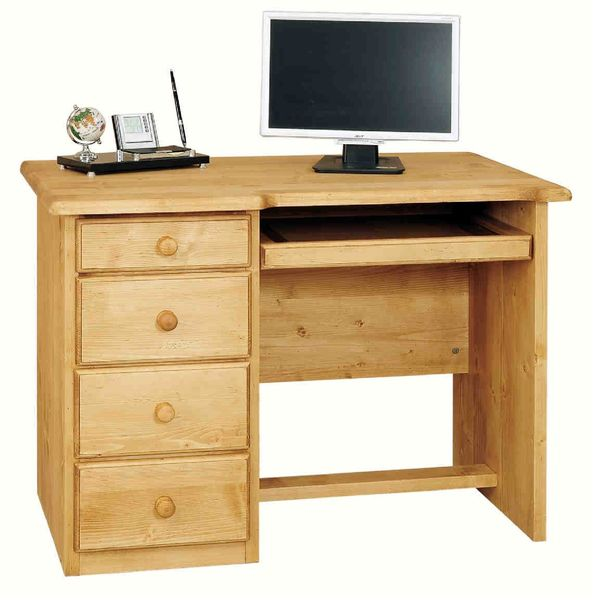 Acheter meuble bureau informatique  Pin -> Bureau DAngle En Pin