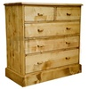 Commode en pin massif, 5 tiroirs - Hearth
