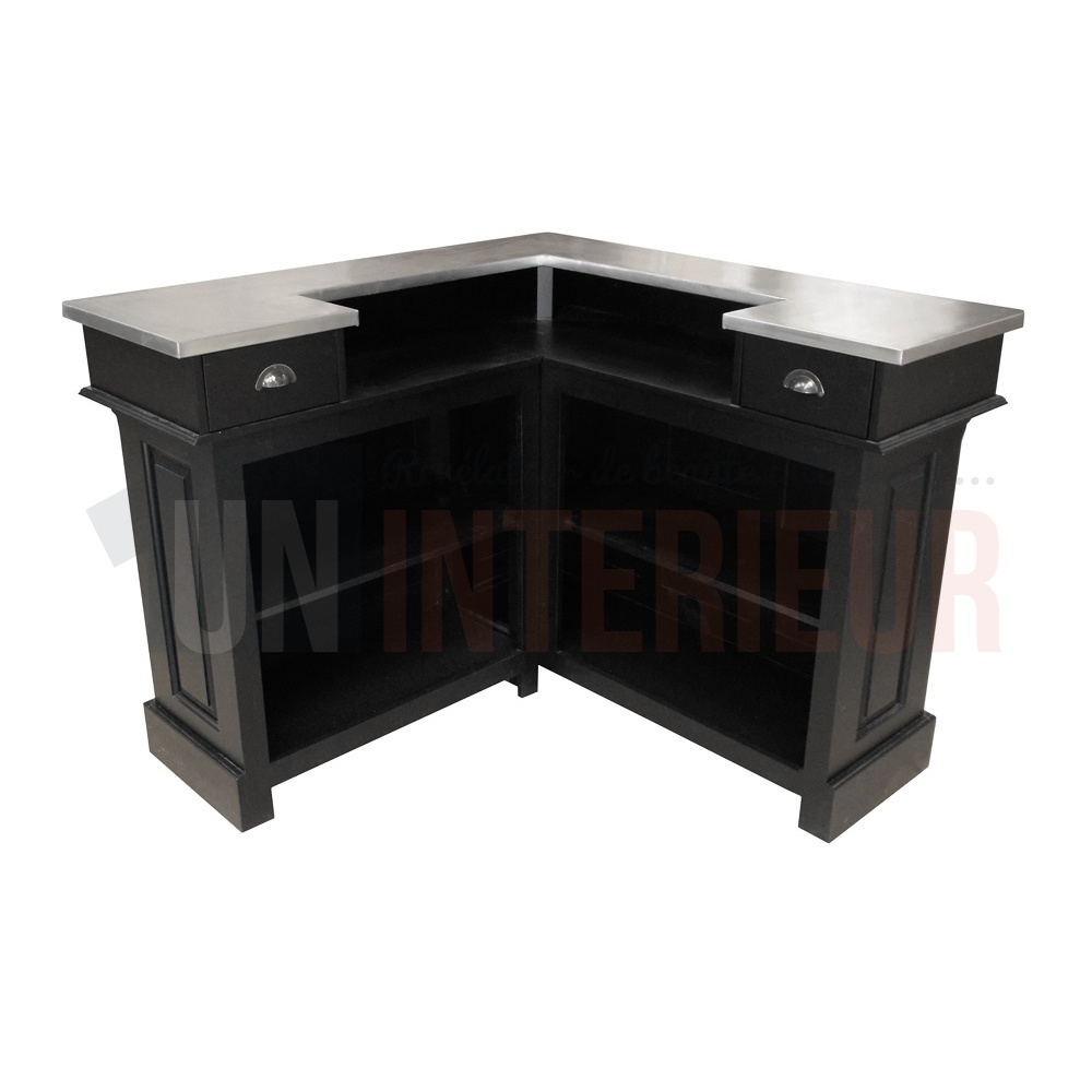 bar d 39 angle en pin massif meuble bistrot. Black Bedroom Furniture Sets. Home Design Ideas