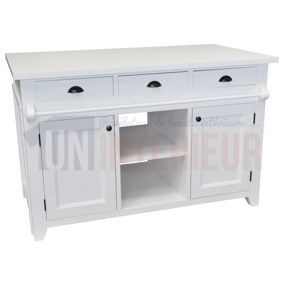 Table ilot de cuisine ilot central ultra ilot de cuisine for Ilot central avec table extensible
