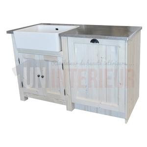 meuble cuisine vier et lave vaisselle pin zinc. Black Bedroom Furniture Sets. Home Design Ideas