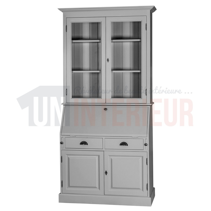 scriban louis philippe en pin secr taire biblioth que. Black Bedroom Furniture Sets. Home Design Ideas