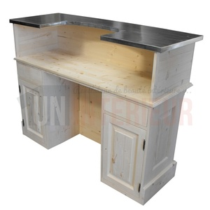 comptoir acceuil et bureau sur mesure en pin massif. Black Bedroom Furniture Sets. Home Design Ideas