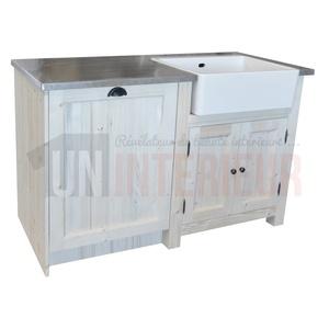 ensemble cuisine vier et lave vaisselle en pin zinc. Black Bedroom Furniture Sets. Home Design Ideas